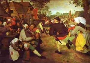 Pieter Bruegel - Danza contadina 1567, Kunsthistosisches Museum, Vienna